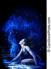 stardust - Beautiful expressive bellet dancer dancing at...