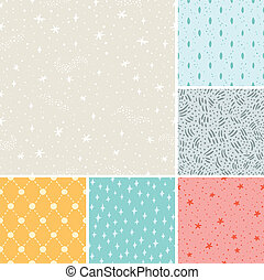 Stardust seamless patterns collecti