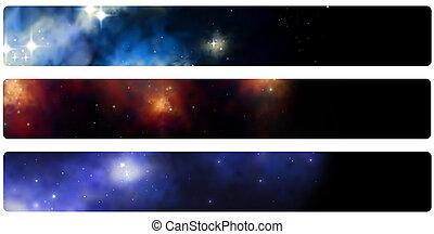 stardust - 3 different banner/header/bookmarks