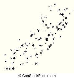 Stardust trail, comet line. Falling star.