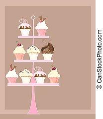 stare in piedi, cupcake