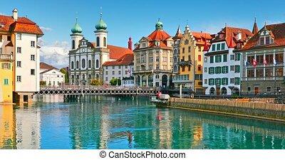 stare miasto, architektura, od, lucerna, szwajcaria