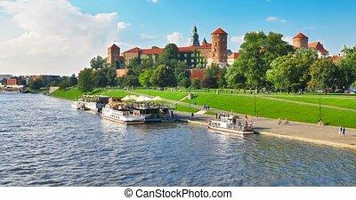 stare miasto, architektura, w, kraków, polska