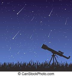 Starfall and telescope