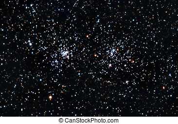 Starfield. A double stars cluster in Perseus