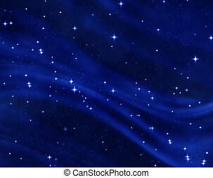starfield - a nice blue star field of bright and shining...