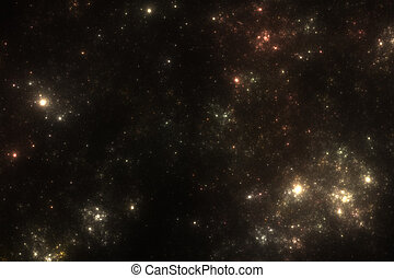 Starfield Background - Illustrated starfield background with...