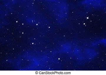 "Starfield background of zodiacal symbol ""Capricorn"""