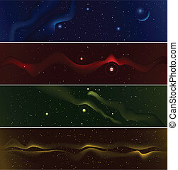 Starfield Banners - Set of four starfield banners.