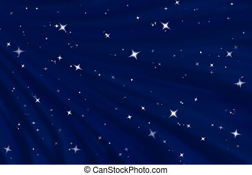 starfield - large flowing blue starry night background image...