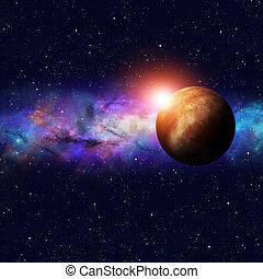 starfield, profundo, espacio