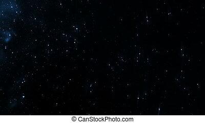 Starfield time-lapse, blueish, loop