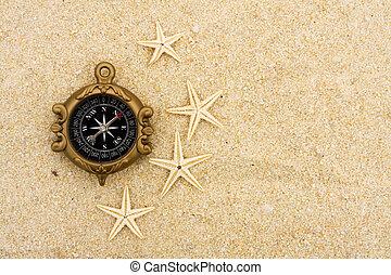 starfish, 以及, 指南針