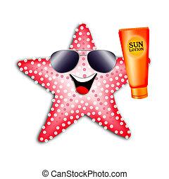 starfish, 由于, 太陽, 洗劑