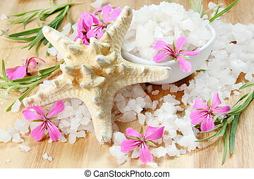 Starfish and Sea Salt with Flowers