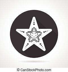 Starfish black round vector icon