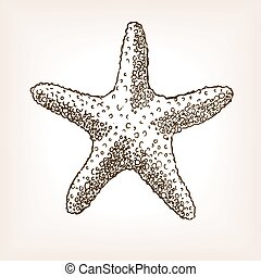 Starfish hand drawn seamless pattern vector