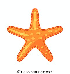 Starfish icon, cartoon style