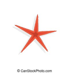 Starfish. Icon on isolated background