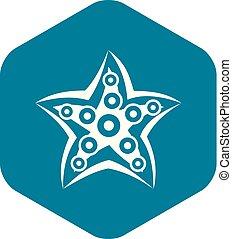 Starfish icon simple