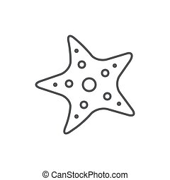 Starfish line editable pixel perfect icon isolated on white background.