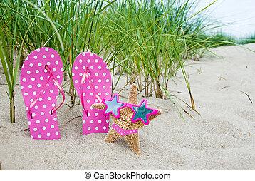 starfish wearing bikini