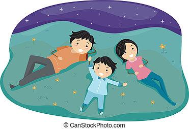 Stargazing Family