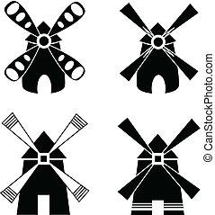 stark, windmill.