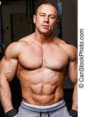 starke , muskulös, mann