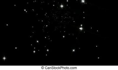 Starlight Animation - Cosmic Animation of floating Stars