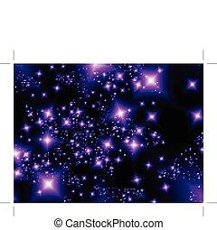Starlight - Shooting stars. Vector illustration