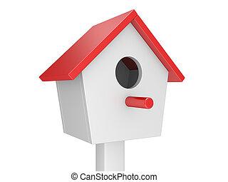 starling-house, -, pássaros, lar