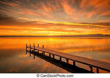 Starnberg Lake in Germany Sunrise