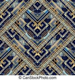 starożytny, abstrakcyjny, nowoczesny, pattern., seamless, wstecz, grek, klucz, meandry
