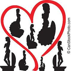 starożytny, afrodita, powłoka, statua