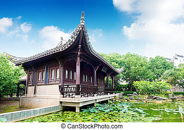 starożytny, architektura, chińczyk