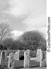 starożytny, celtycki, stanie kamień, koło