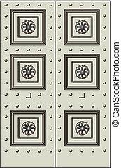 starożytny, drzwi