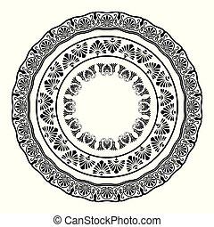 starożytny, grek, krajowy, okrągły, próbka