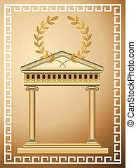 starożytny, grek, tło