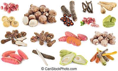 starożytny, grupa, warzywa