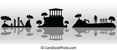 starożytny, ilustracja, grecja