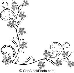 starożytny, kwiaty, upiększenia, vectors
