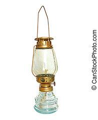 starożytny, lampa, backgound, biały