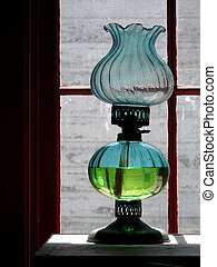 starożytny, lampa, nafta