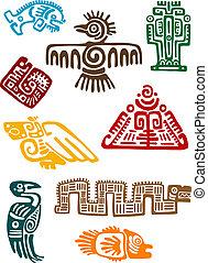 starożytny, maya, potwory