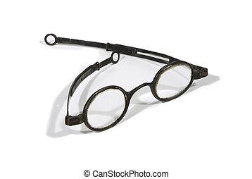 starożytny, okular, peruka