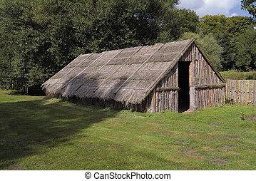 starożytny, plemienny, mieszkanie