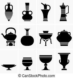 starożytny, porcelana