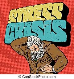 starożytny, siła, atlas, biznesmen, silny, kryzys, człowiek